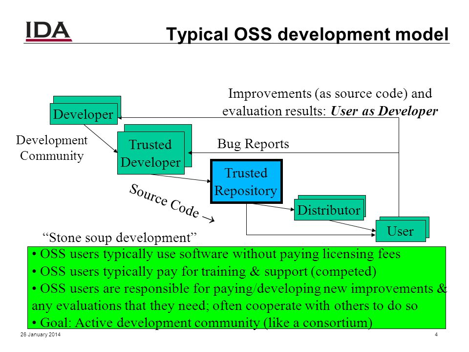 What is Open Source Software (OSS)? OSS: software licensed to users with these freedoms: o to run the program for any purpose, o to study and modify t