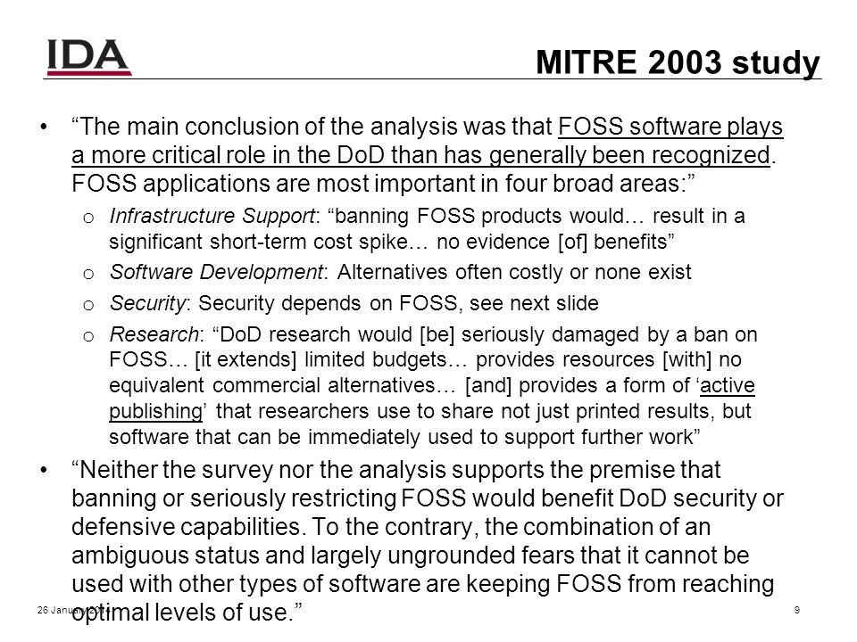 Early OSS history 1980s: FSF founded, Berkeley Unix & TCP/IP 1998: Term OSS created 2001-2002: Public claims OSS or GPL dangerous o Bill Gates: free c