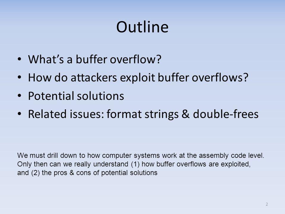 Whats a buffer overflow.