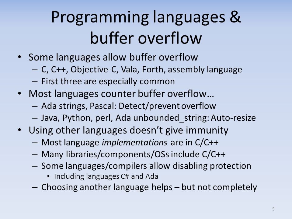 Calling a procedure Given this C program: void main() { f(1,2,3); } The invocation of f() might generate assembly: pushl $3 ; constant 3 pushl $2 ; Most C compilers push in reverse order by default pushl $1 call f call instruction pushes instruction pointer (IP) on stack – In this case, the position in main() just after f(…) – Saved IP named the return address (RET) – CPU then jumps to start of function 16