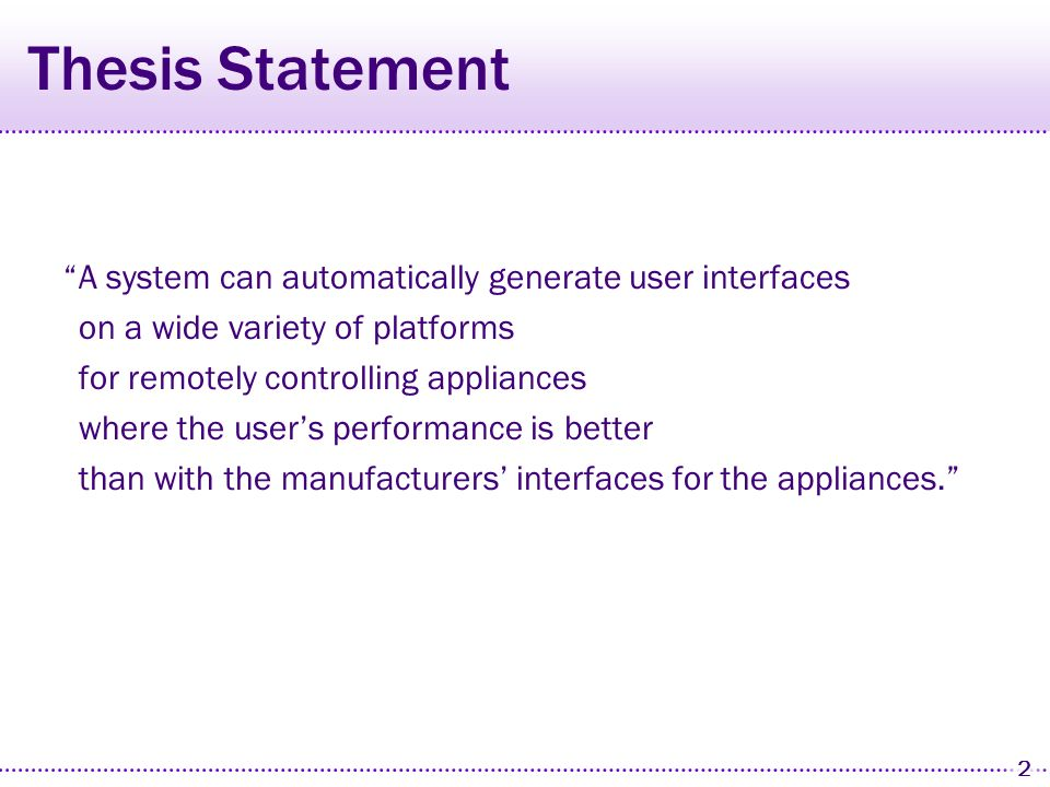 1 Problem Appliances are complex and their user interfaces are often hard to use!