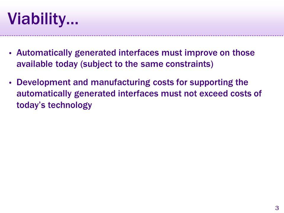 2 New Automated Design Systems Supple, Gajos 2004 PUC and Uniform, Nichols 2006 Xweb, Olsen 2000 iCrafter, Ponnekanti 2001 INCITS/V2 Standard