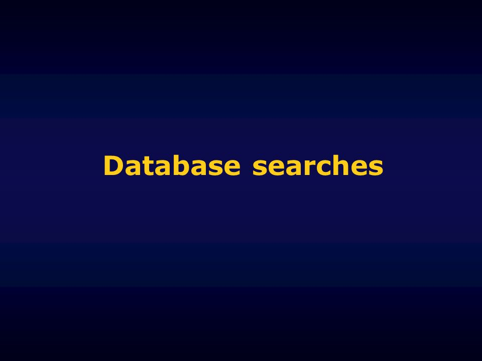 Database searches