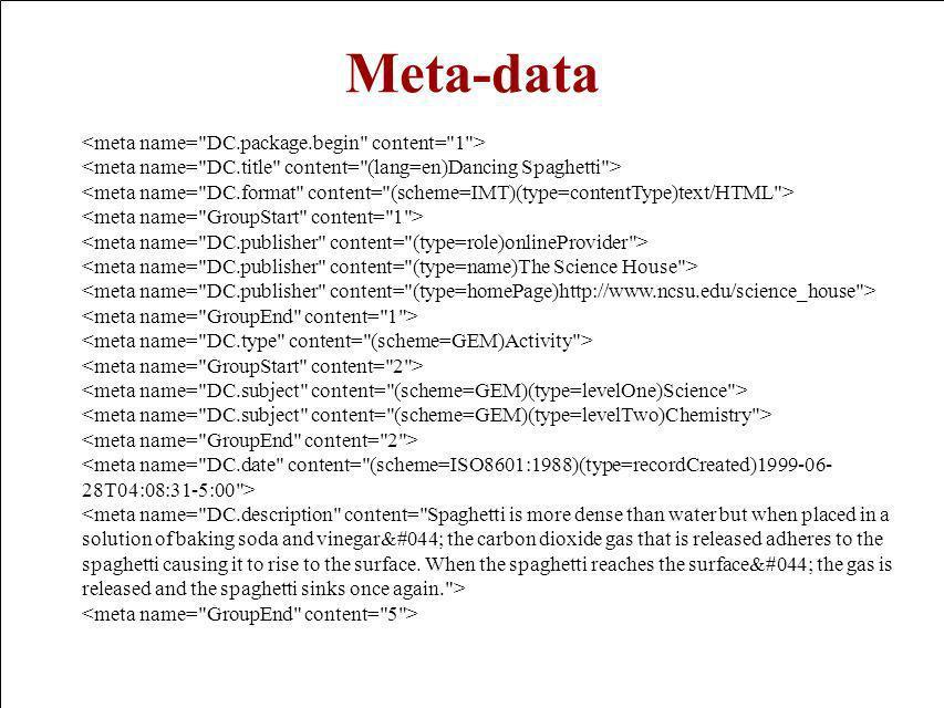 CIDOC 2000 Meta-data