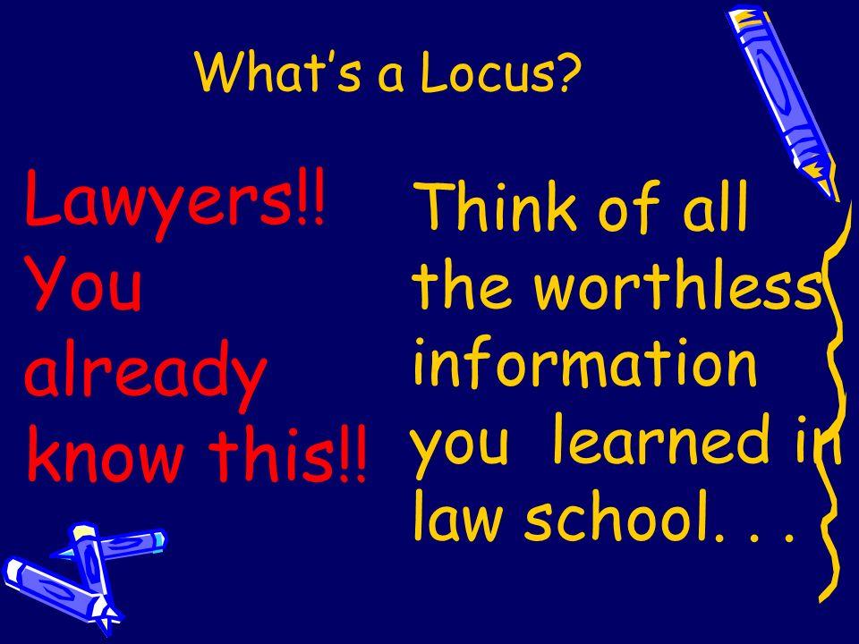 Whats a Locus?