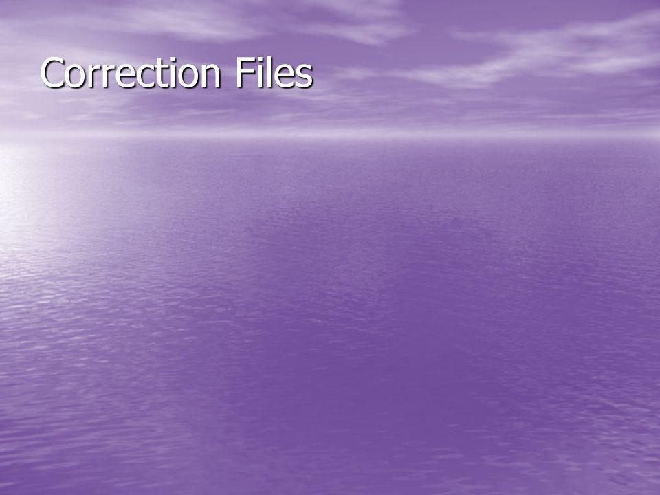 Correction Files