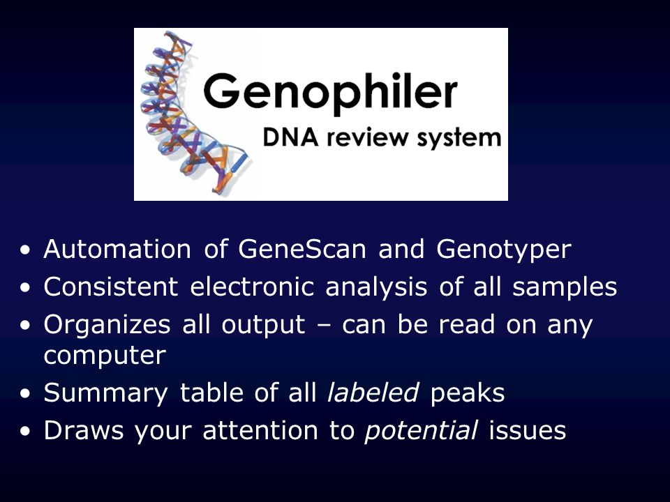 Default view (as found in printout) Genotyper: Show peaks that were manually removed