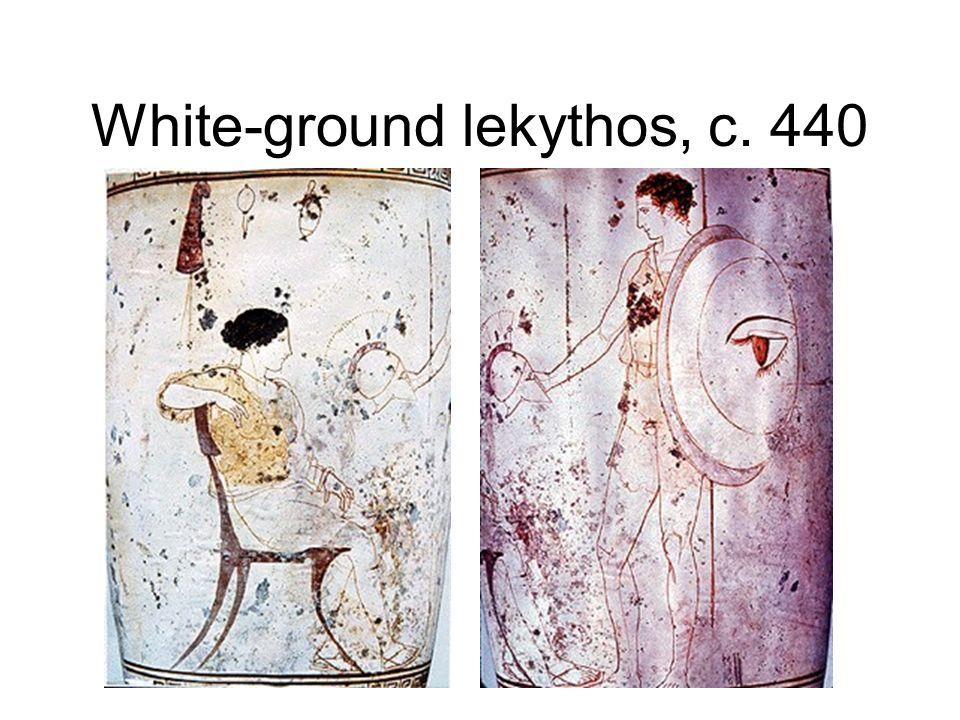 White-ground lekythos, c. 440