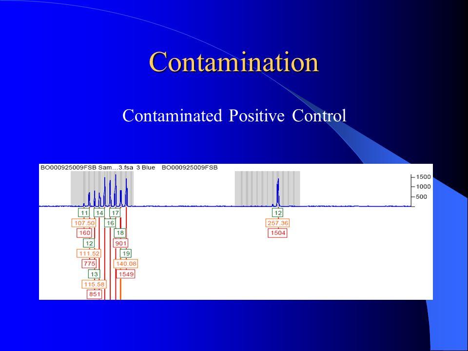 Contamination Contaminated Positive Control
