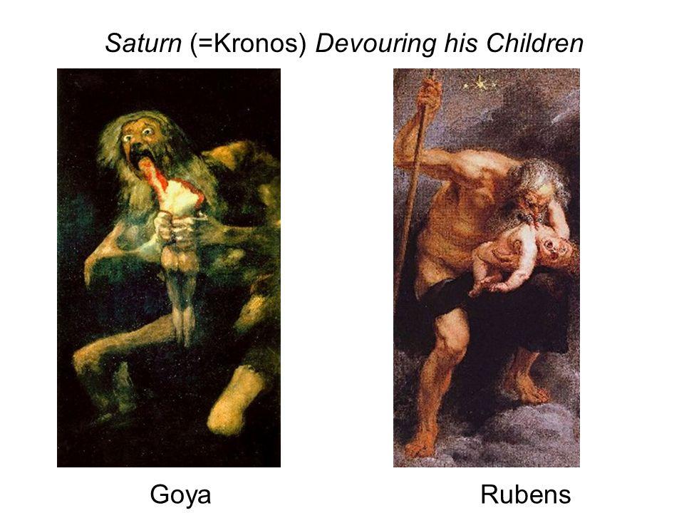 Saturn (=Kronos) Devouring his Children RubensGoya