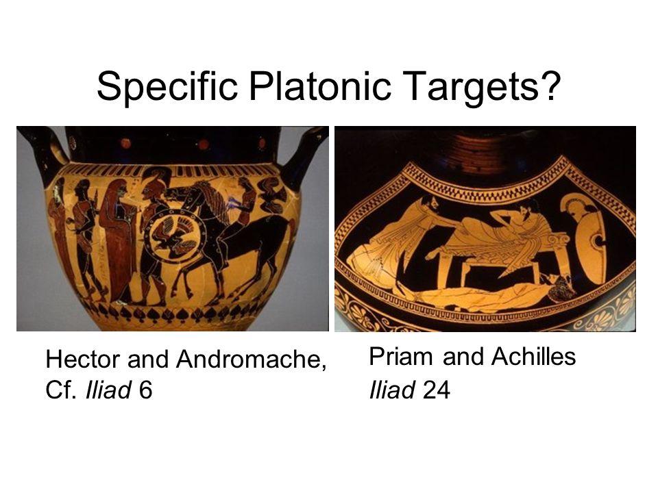 Specific Platonic Targets? Hector and Andromache, Cf. Iliad 6 Priam and Achilles Iliad 24