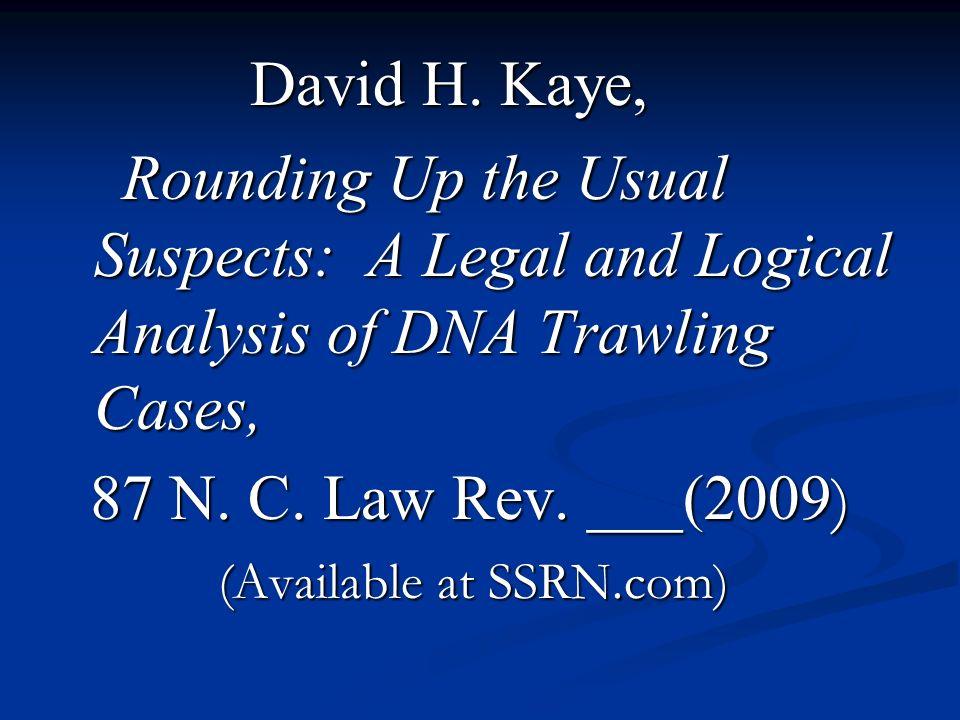 David H. Kaye, David H.