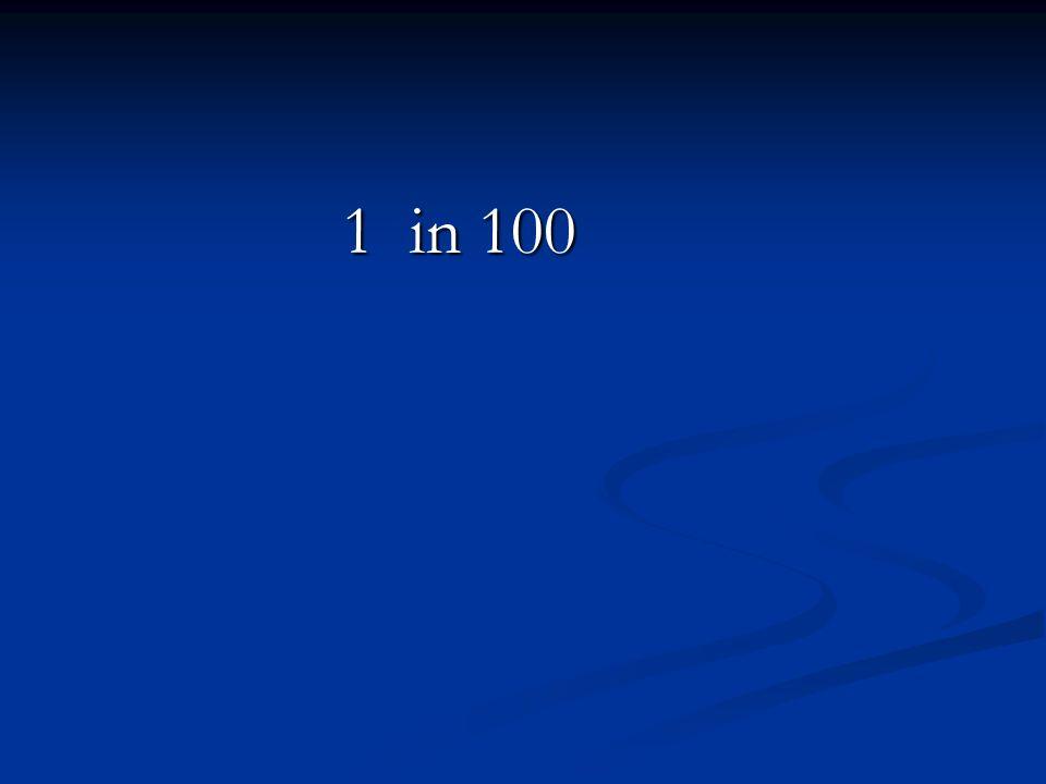 1 in 100 1 in 100