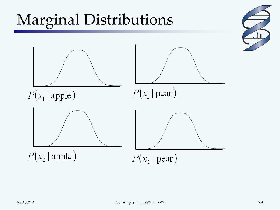 8/29/03M. Raymer – WSU, FBS36 Marginal Distributions