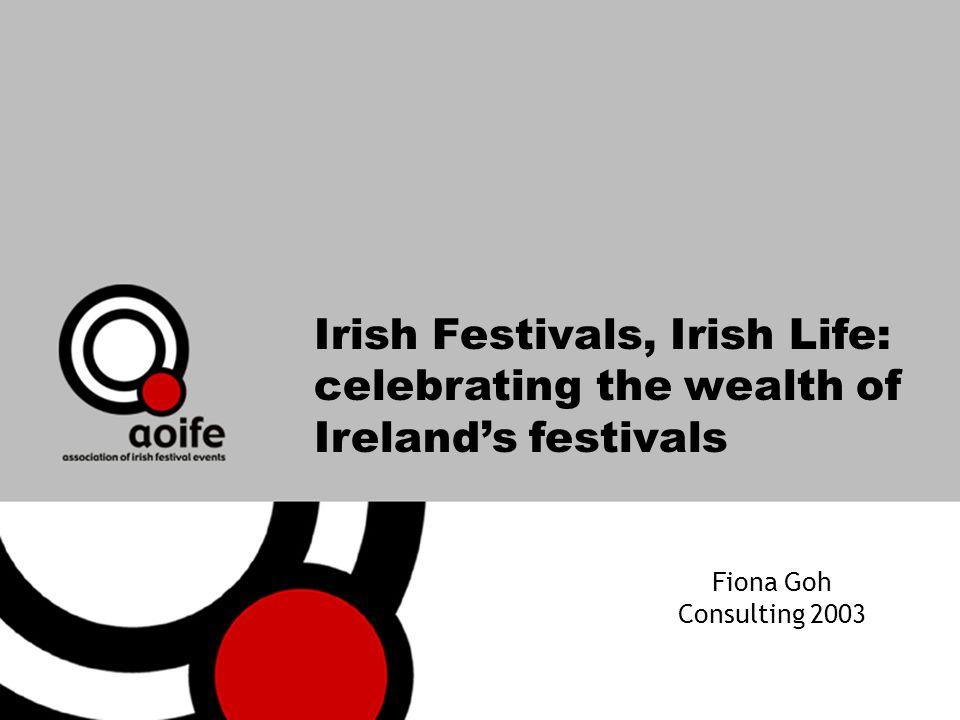 Irish Festivals, Irish Life: celebrating the wealth of Irelands festivals Fiona Goh Consulting 2003