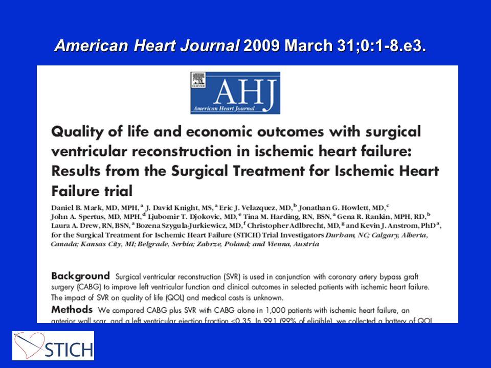 American Heart Journal 2009 March 31;0:1-8.e3.