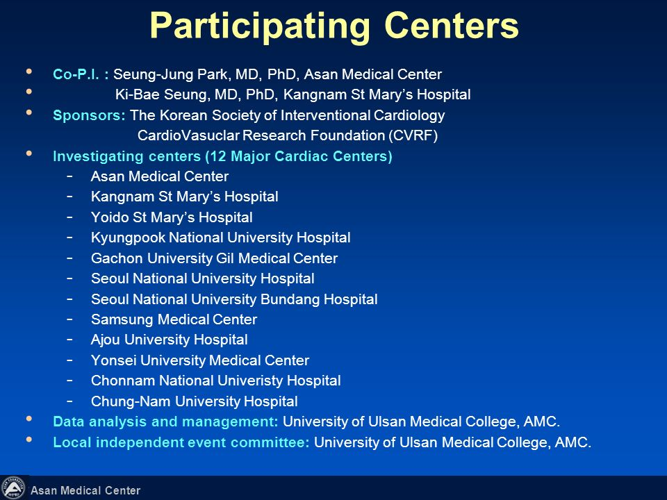 Asan Medical Center In a cohort of patients with unprotected left main coronary artery disease, we found no statistical significant difference in the risk of death and serious composite outcomes (death, Q-wave myocardial infarction, or stroke) between patients receiving stenting and those undergoing CABG.