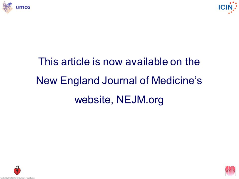 This article is now available on the New England Journal of Medicines website, NEJM.org