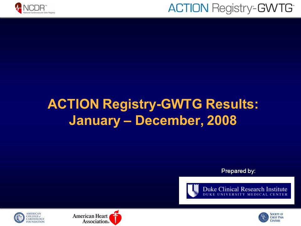Prepared by: ACTION Registry-GWTG Results: January – December, 2008