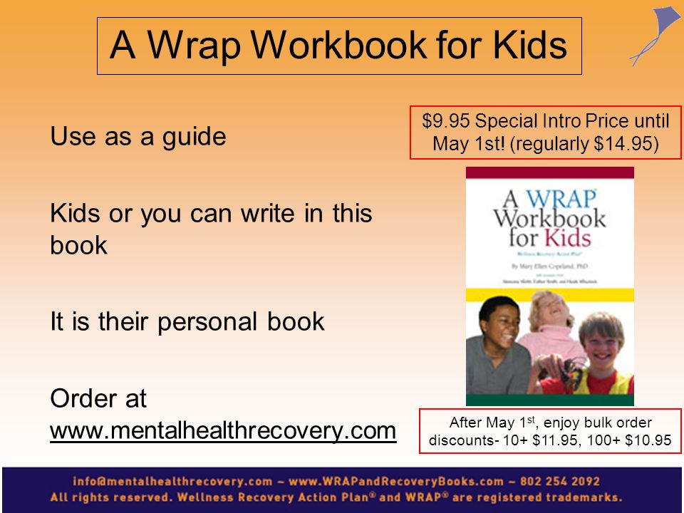 For information on becoming a Certified WRAP Facilitator or having a WRAP training in your area, go to: www.copelandcenter.com Training