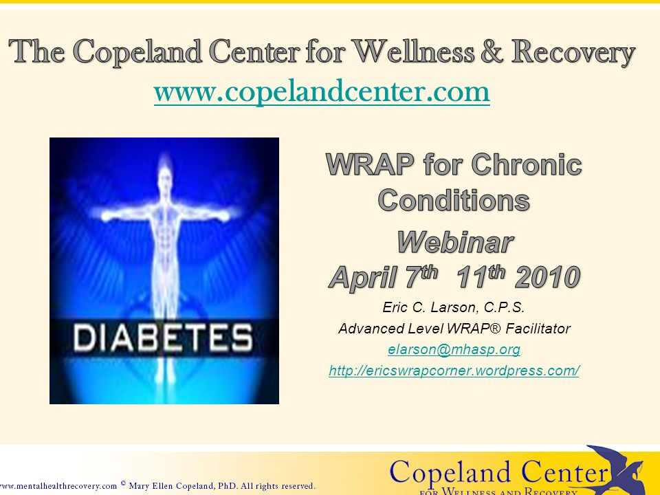 Mary Ellen Copelands work in the Key Concepts of WRAP states, You can get well and stay well for long periods of time.