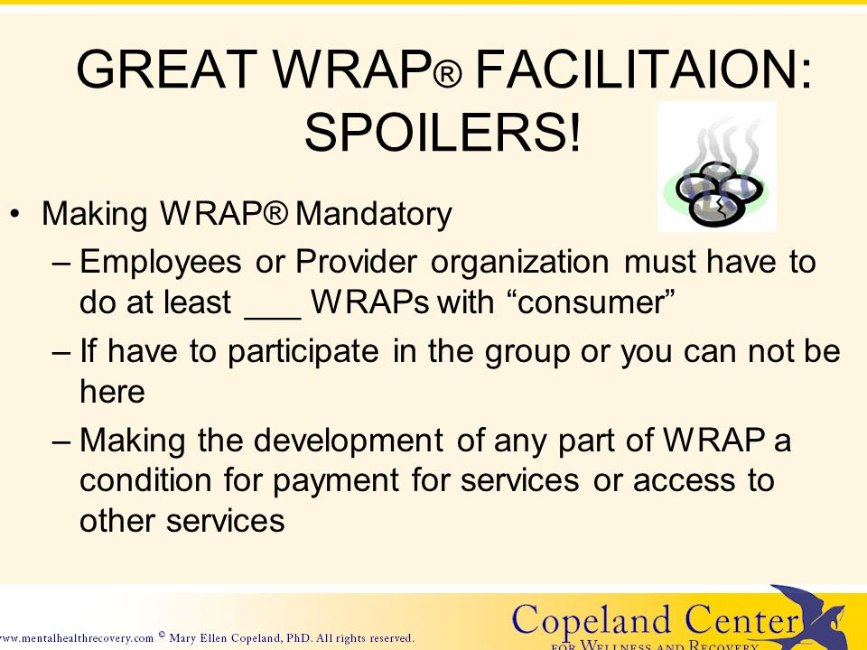 GREAT WRAP ® FACILITAION: SPOILERS.