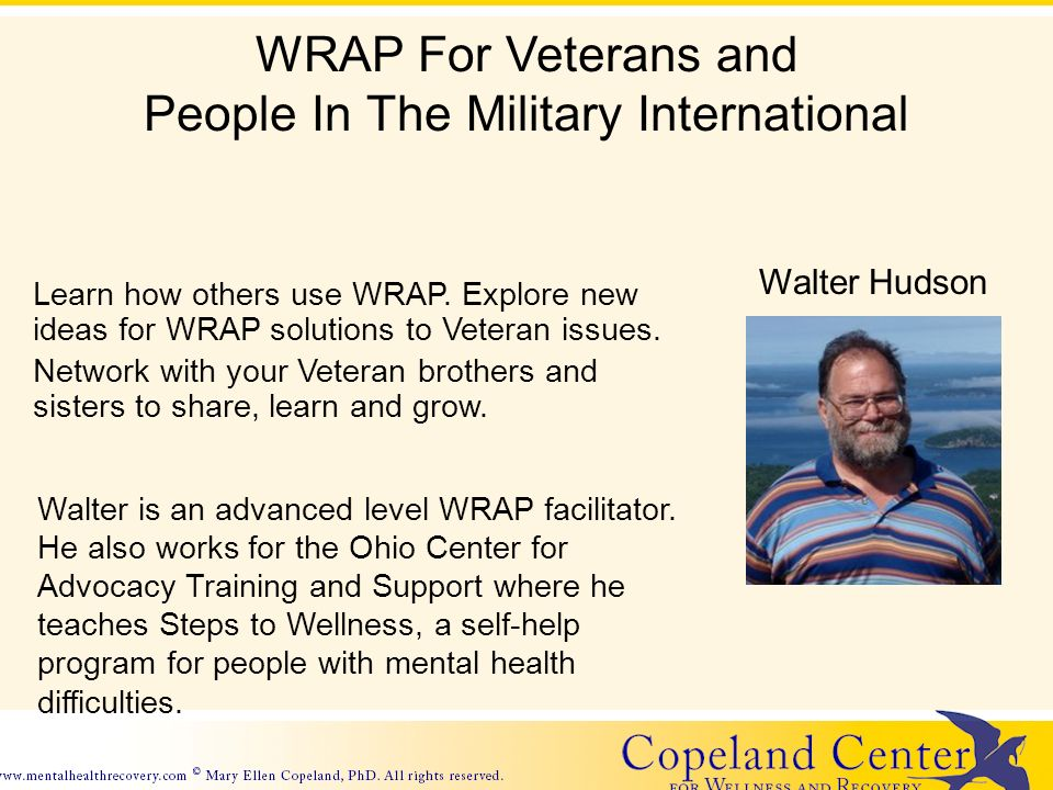 Copeland Center Website Learn how others use WRAP.