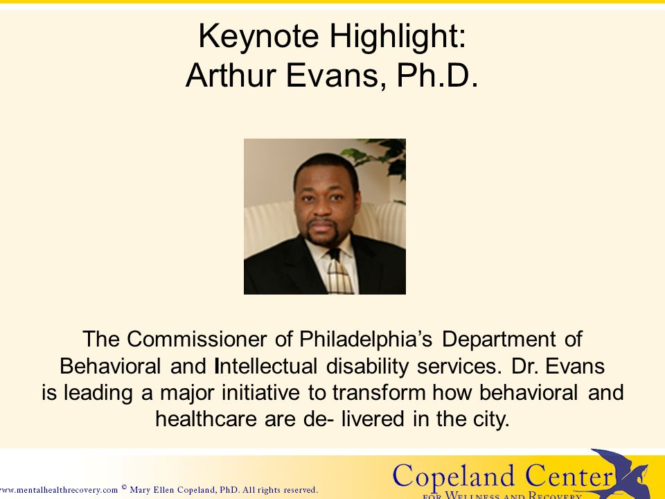 Keynote Highlight: Arthur Evans, Ph.D.