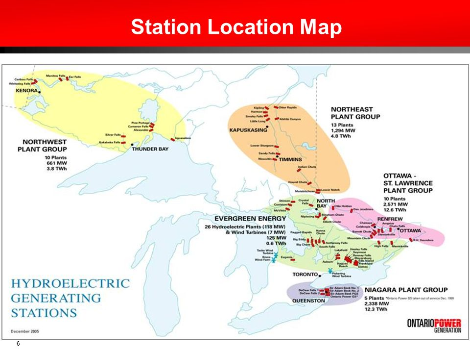 7 OPGs Hydroelectric Assets Ragged Rapids GS