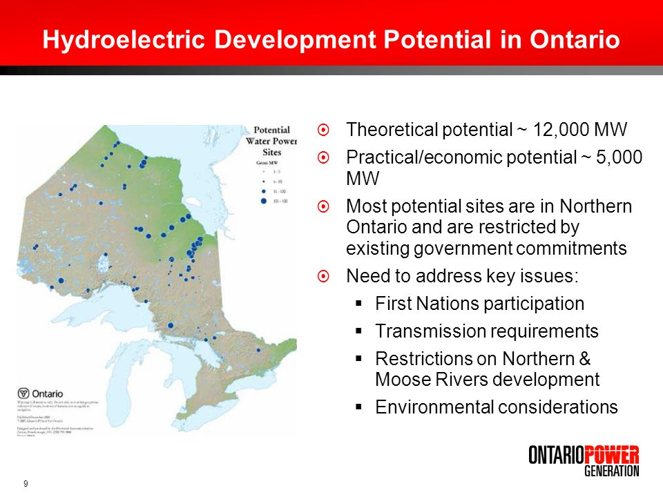 10 First Nations Participation Active involvement by First Nations in hydroelectric developments includes potential equity participation.