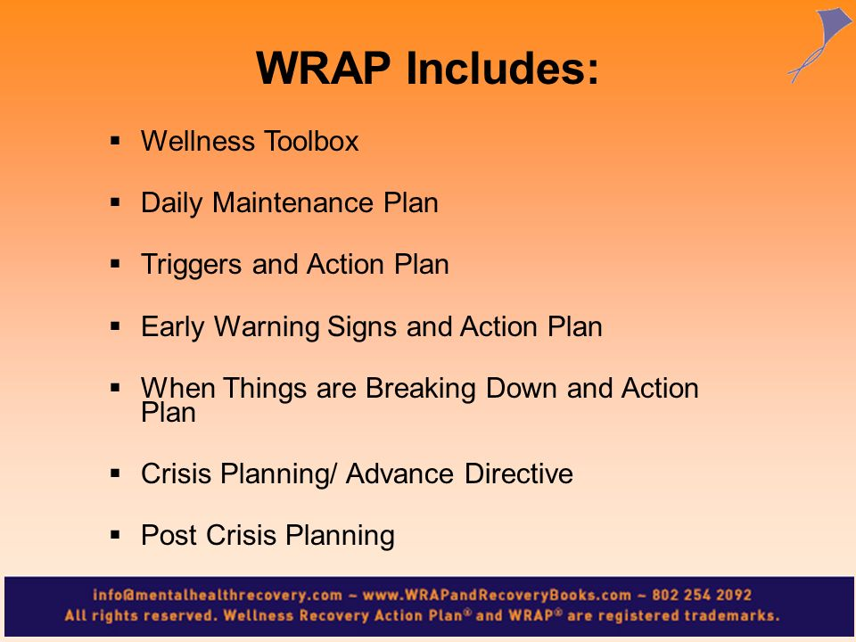 Wellness Toolbox Daily Maintenance Plan Triggers and Action Plan Early Warning Signs and Action Plan When Things are Breaking Down and Action Plan Cri