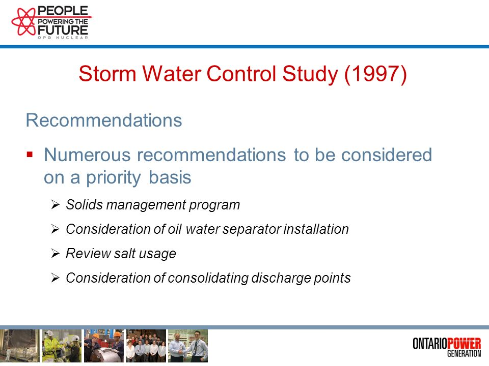 Storm Water Control Study (1997) Conclusions Elevated suspended solids seen in many samples Areas were observed that were vulnerable to erosion and th