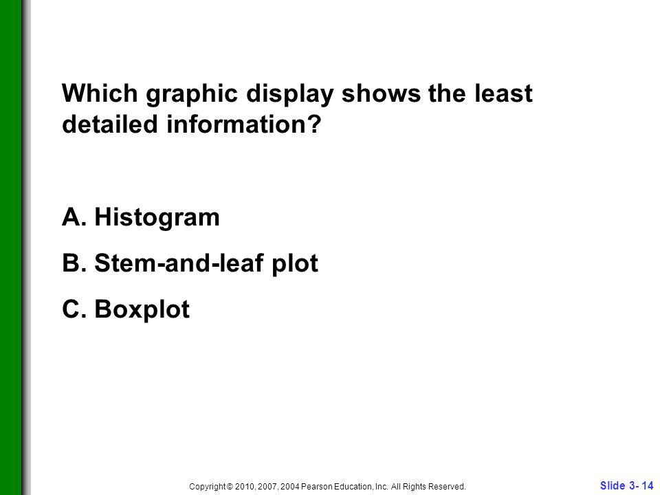 Slide 3- 14 Copyright © 2010, 2007, 2004 Pearson Education, Inc.