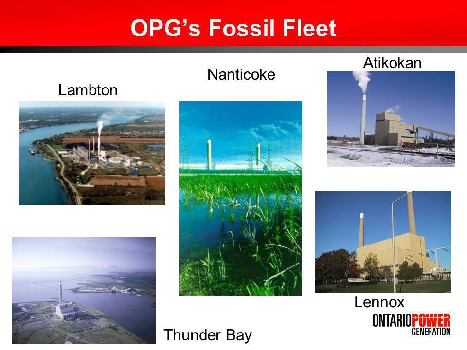 OPGs Fossil Fleet Lambton Nanticoke Atikokan Thunder Bay Lennox
