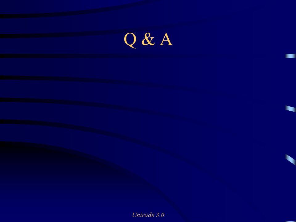 Unicode 3.0 Q & A