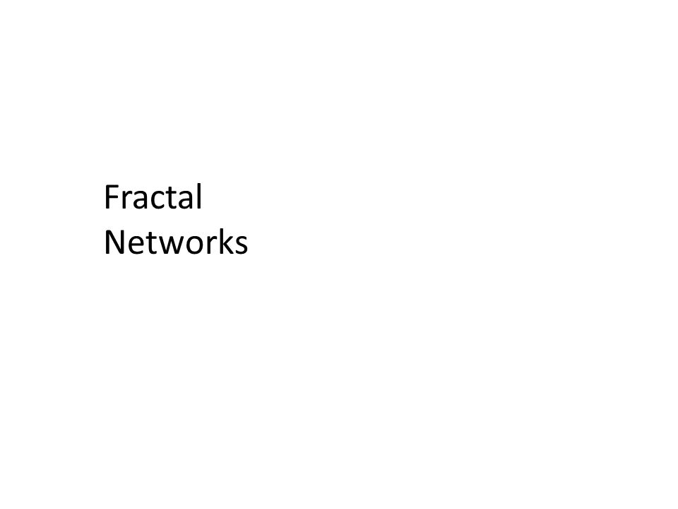 Fractal Networks