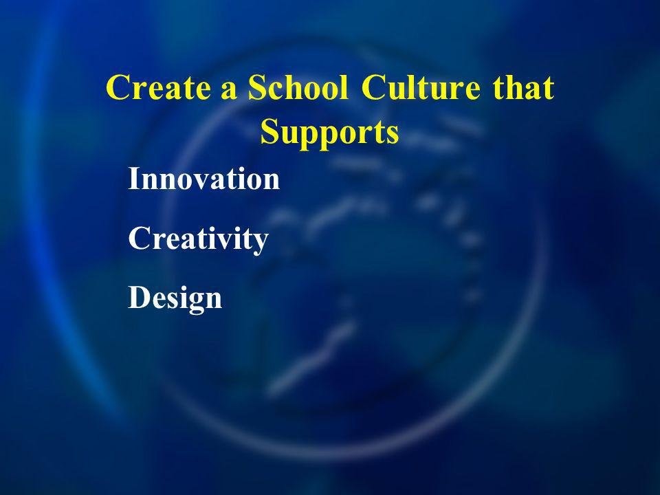Create a School Culture that Supports Innovation Creativity Design