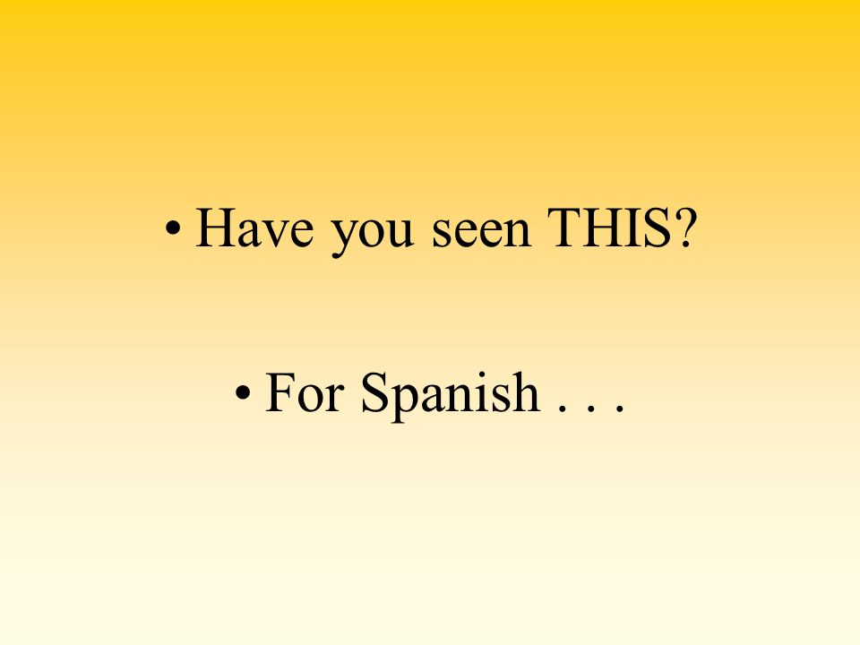 Have you seen THIS? For Spanish...