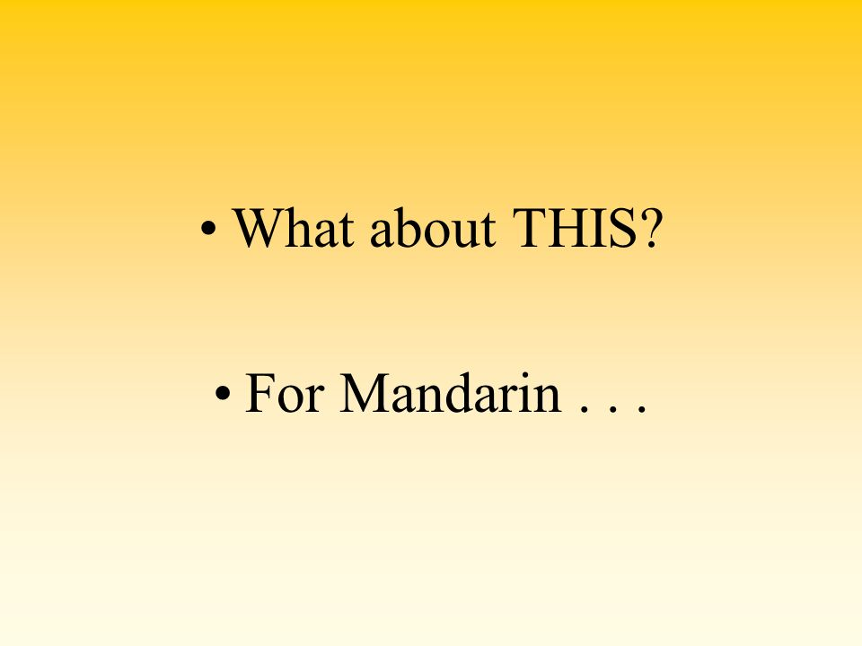 What about THIS? For Mandarin...