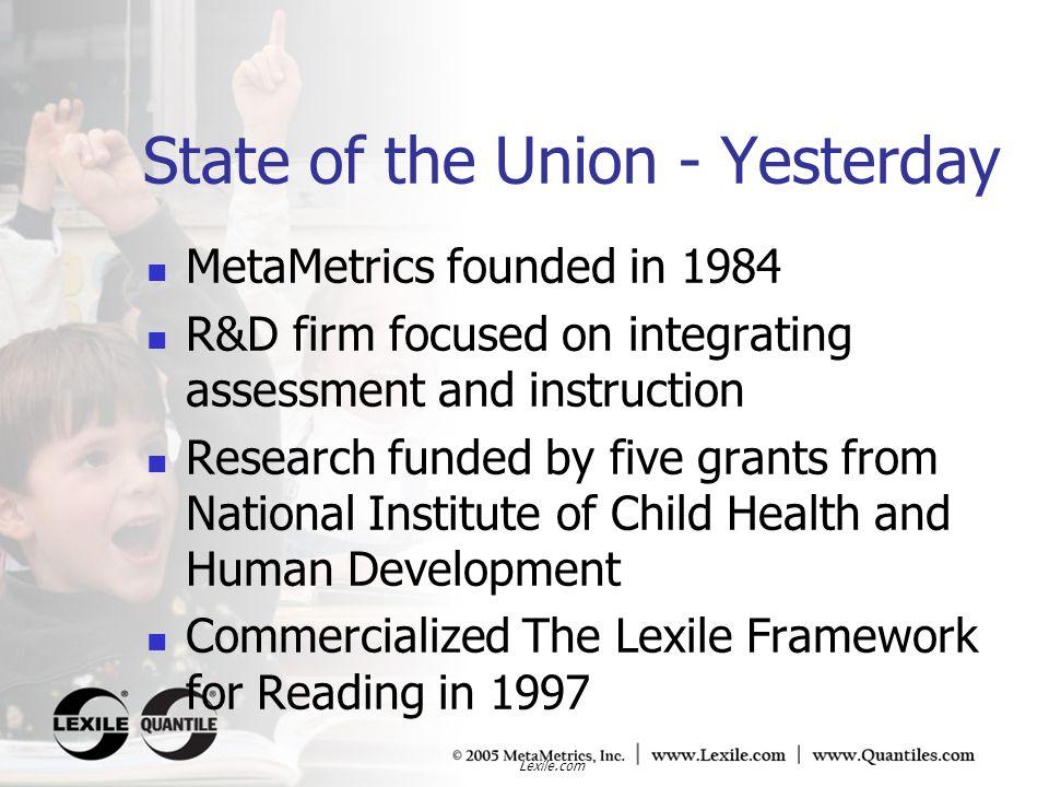 Lexile.com MetaMetrics SBIR Grants Awarding Agency: National Institute of Child Health and Human Development