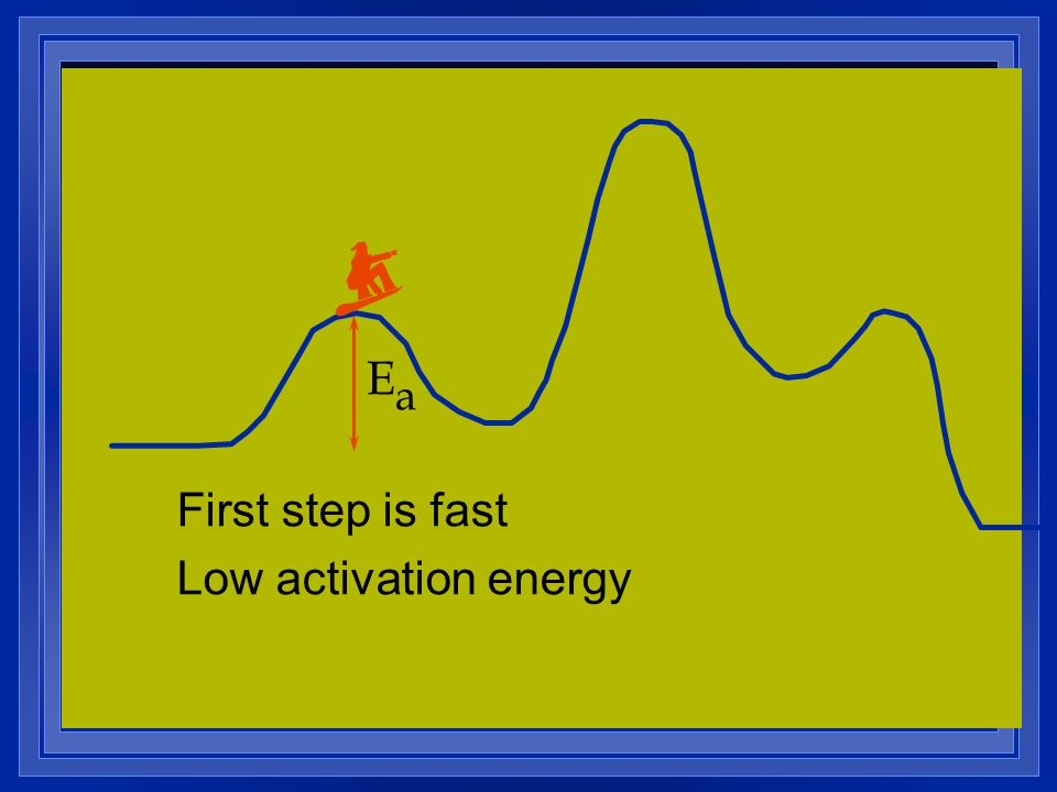 EaEa First step is fast Low activation energy