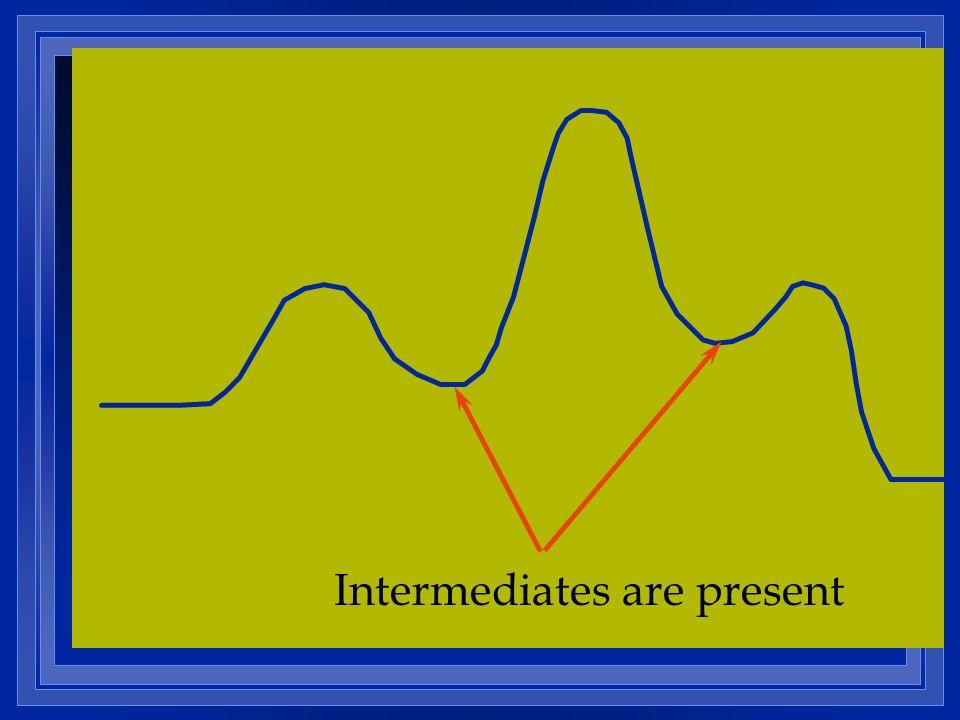 Intermediates are present