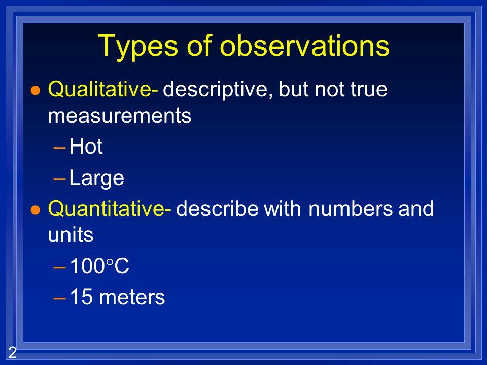 1 Chapter 3 Scientific measurement