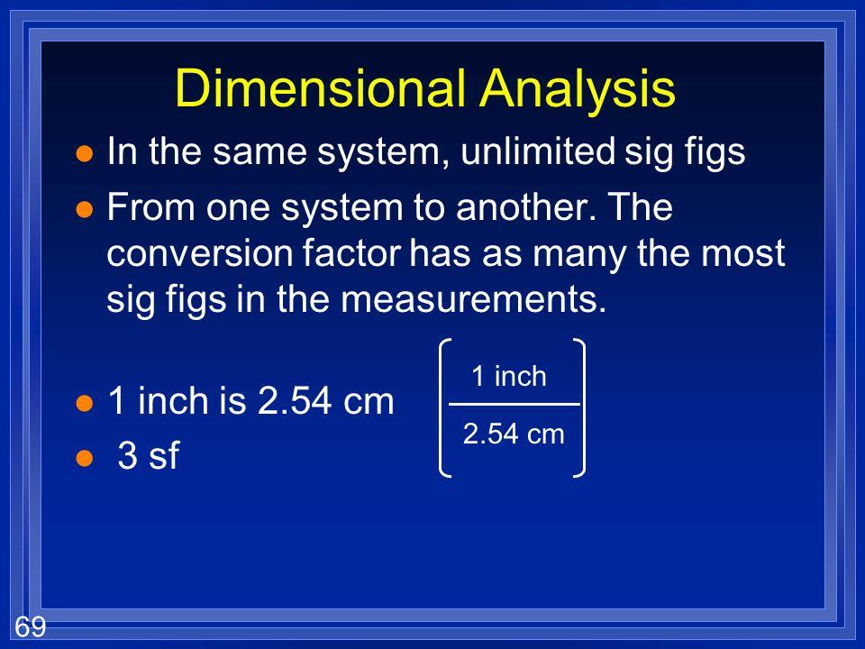 68 Practice l 25 mL is how many L? l 5.8 x 10 -6 mm is how many nm?