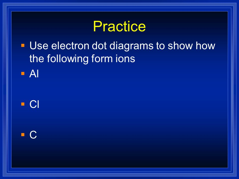 Electron Dots For Anions Nonmetals will have many valence.electrons. They will gain electrons to fill outer shell. P P 3-