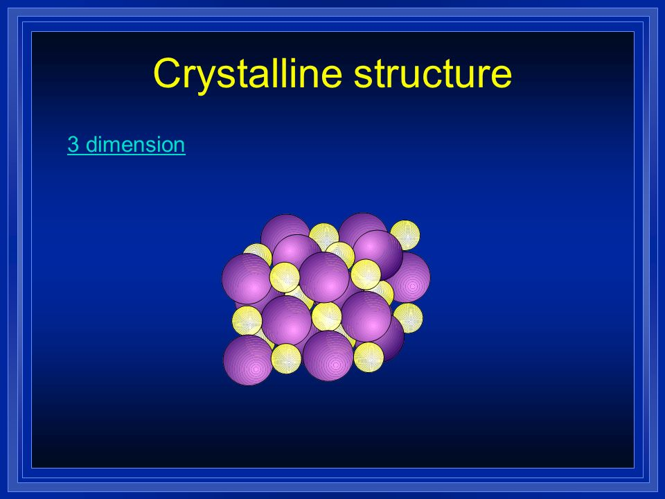 Properties of Ionic Compounds Crystalline structure. A regular repeating arrangement of ions in the solid. Ions are strongly bonded. Structure is rigi