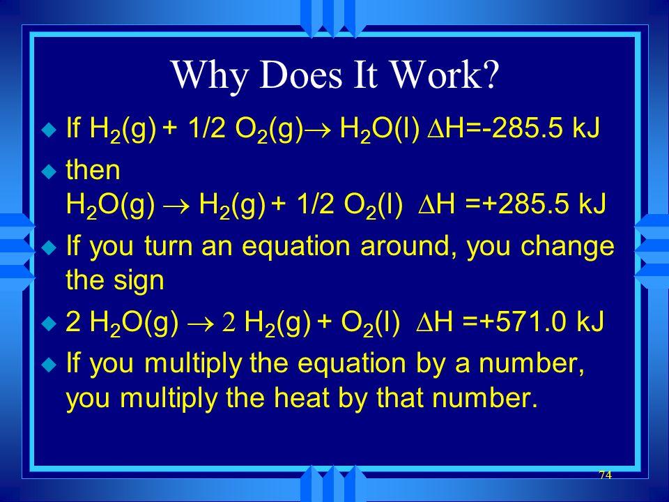 73 Examples 2 SO 3 (g) 2SO 2 (g) + O 2 (g)