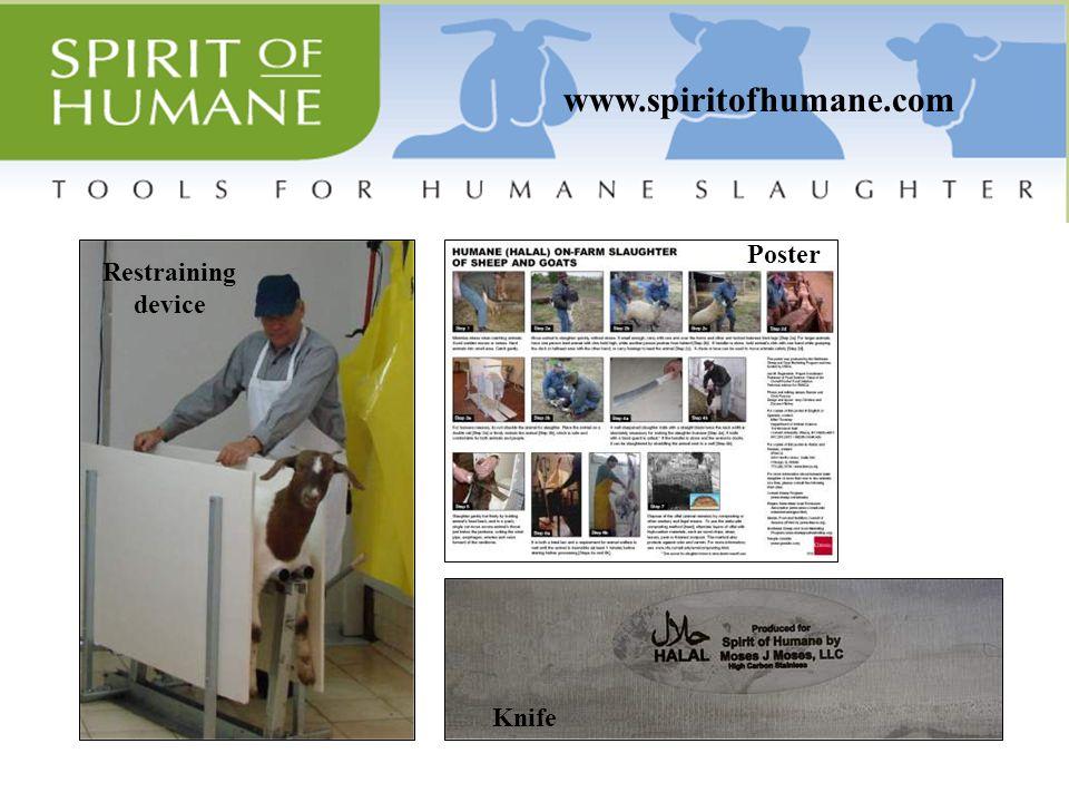 www.spiritofhumane.com Knife Restraining device Poster