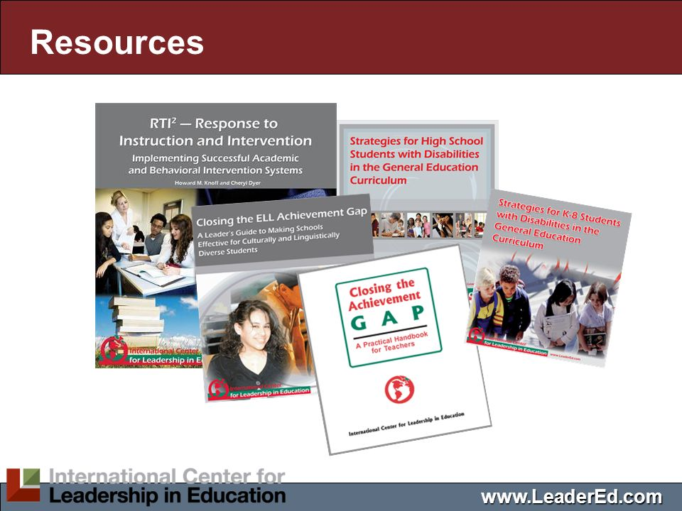 Resources www.LeaderEd.com