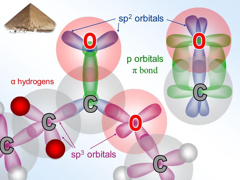 sp 2 orbitals p orbitals π bond sp 3 orbitals α hydrogens